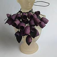Колье из шелковых коконов, ультрафиолет, украшение для женщины или девушки