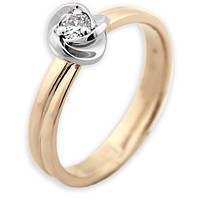 Золотое кольцо с бриллиантом Весна 17 000000472