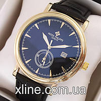 Мужские наручные часы Patek Philippe T09 на кожаном ремешке