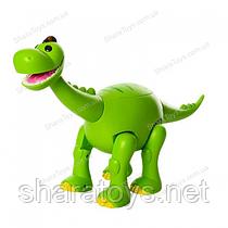 Игрушечный интерактивный динозавр на батарейках