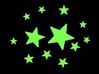 Наклейки светящиеся Звезды 12 шт. 3D декор
