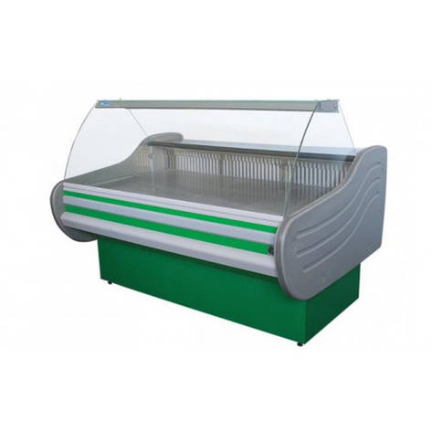 Холодильная витрина Айстермо ВХСК АРКТИКА 1.6 Д (-2...+5°С, 1600х1160х1250 мм, гнутое стекло), фото 2