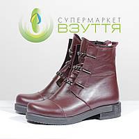 Демисезонные ботинки на низком ходу из натуральной кожи TR 7 бор Claire, фото 1