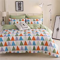 Комплект постельного белья Triangles Green (полуторный) Berni