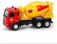 Машинка PLAY SMART Автопарк Бетономешалка Камаз, металл+пластмасса, инерционная, 6516B, 002071