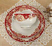 Винтажное чайное трио, чашка, блюдце, тарелка, Германия, Heinrich Baensch, фарфор, фото 1