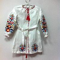 Вишита біла сукня для дівчинки