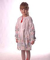 """Вишита біла сукня для дівчинки """"Олеся"""" машинна робота розміри в наявності"""