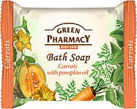 """""""Green Pharmacy"""" Туалетное мыло Морковь с маслом тыквы 100г"""