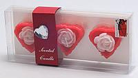 Набор свечей в стеклянных подсвечниках (3 шт) Сердце BonaDi RF-D50