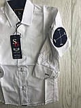 Сорочка біла на кнопці 2--7 років, фото 2