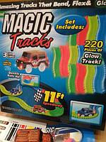Светящаяся дорога Magic Tracks 220 деталей (машинка на 3 диода)