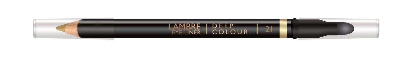 Стойкий карандаш для глаз  медное золото Lambre №21