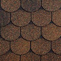Битумная черепица RUFLEX ORNAMI - Медный Отлив, Copper Shadow
