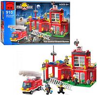 Конструктор Brick Enlighten Fire Rescue Пожарная тревога станция, 380 дет., 910, 006761