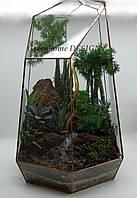 """Флорариум """"Кристалл"""" с суккулентами и стабилизированным деревом!"""