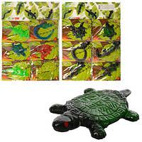 Игра-липучка 1102-923 от 9см,тянется,2 вида(микс-животные,рептилии), 6шт на листе,29-43-1см