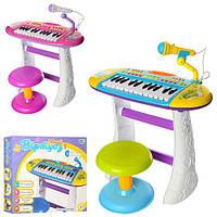 Детский синтезатор BB383BD ,музыка, свет, 49х25х43,5 см, 2вида,на батарейках