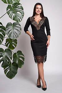 Платье Флорет 0317_2 Чёрное