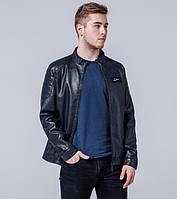 Ajento  | Куртка мужская весна-осень экокожа 13316 т-синий