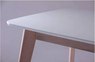 Стол Модерн CO-293 шпон 1200х750 Белый/Бук беленый, фото 3