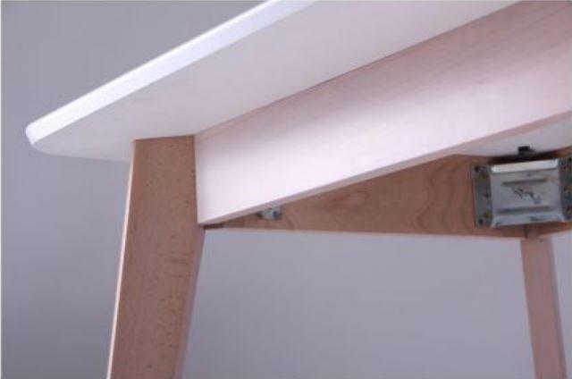 Стол Модерн CO-293 шпон 1200х750 Белый/Бук беленый (фото 7)