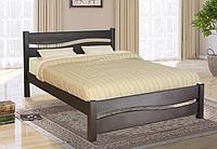 Двуспальная кровать Волна деревянная с быльцем