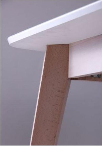 Стол Модерн CO-293 шпон 1200х750 Белый/Бук беленый (фото 8)