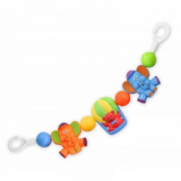 Погремушка для коляски Слон и медведь/Рыбы/Мишки ТМ Baby Mix
