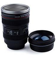 Термочашка в форме объектива Caniam EF 24-105 с линзой (термокружка Canon)