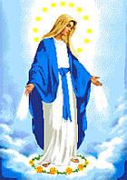 """Схема для вышивки крестом на канве Аида №16 """"Дева Мария Непорочного Зачатия"""""""