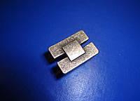 Ручка кнопка Италия серебро
