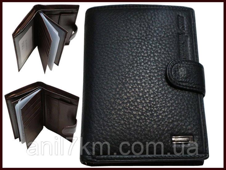 Мужской кожаный кошелёк Monice для денег и документов
