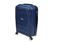 Антиударный пластиковый чемодан большого размера New Line Airtex 232