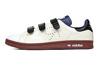 Мужские кроссовки Adidas x Raf Simons Stan Smith Comfort Cream White/Dark Blue/Fox Brown