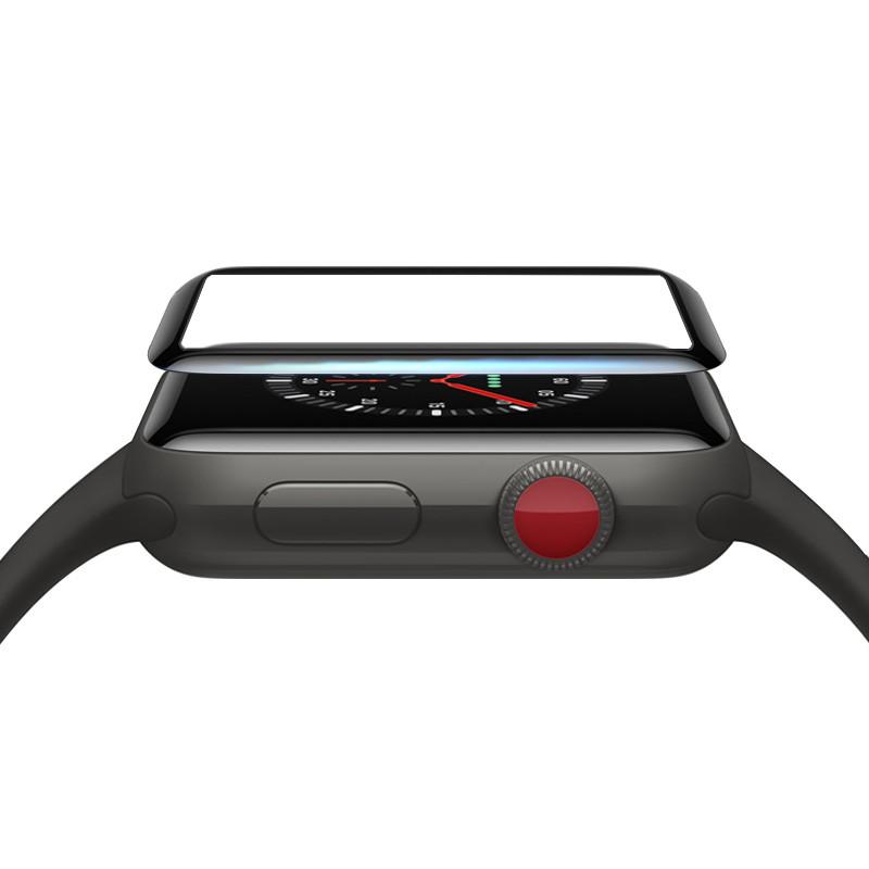 3D защитное стекло Primo Tempered Glass для смарт-часов Apple Watch 42mm - Black