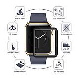 3D защитное стекло Primo Tempered Glass для смарт-часов Apple Watch 42mm - Black, фото 4