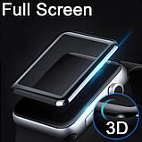 3D защитное стекло Primo Tempered Glass для смарт-часов Apple Watch 42mm - Black, фото 2