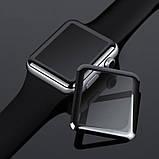 3D защитное стекло Primo Tempered Glass для смарт-часов Apple Watch 42mm - Black, фото 3