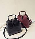 Женский рюкзак сумка сундучок под рептилию., фото 5