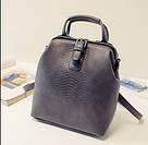 Женский рюкзак сумка сундучок под рептилию., фото 4