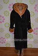Махровый халат с капюшоном для подростка 12-14 лет
