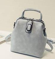 Женский рюкзак сумка сундучок под рептилию.