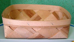 Плетёная форма 240*140*70 мм из дерева (шпона)