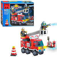 Конструктор Brick Enlighten Fire Rescue Пожарная машина 130 дет., 903, 002746, фото 1