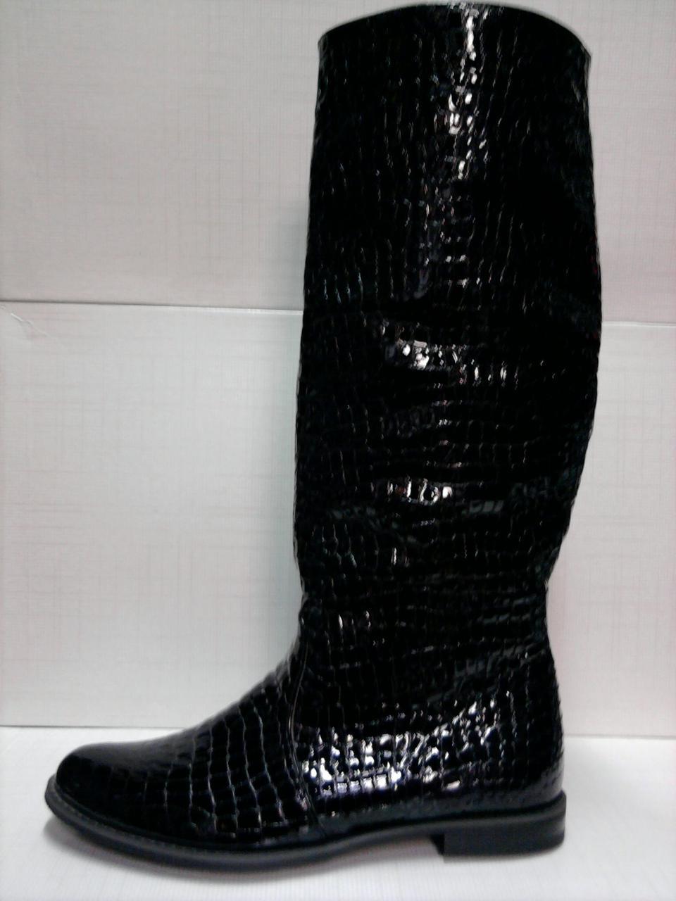 3f8d1d33481d Сапоги Grossi женские черные. Лакированная кожа.  продажа, цена в ...
