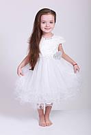 Нарядное белое детское платье на девочку