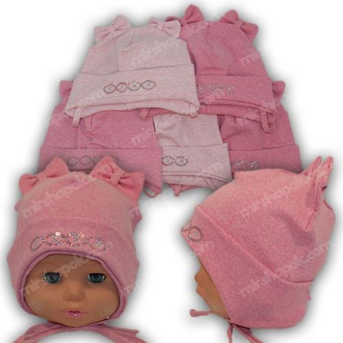 детская трикотажная шапка для девочки