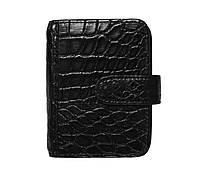 Визитница из кожи крокодила Ekzotic Leather Черный (crc01)