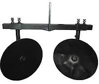 Окучник дисковый регулируемый 360мм на поперечной раме, фото 1
